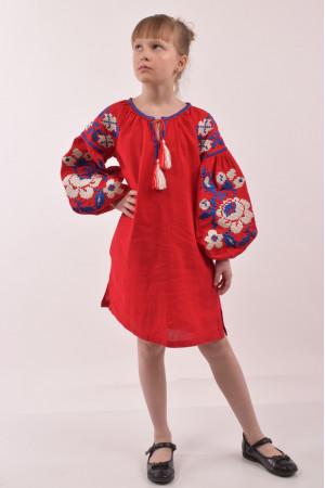 Платье для девочки «Левада» красного цвета