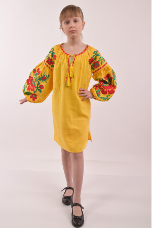 Сукня для дівчинки «Левада» жовтого кольору