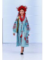 Сукня для дівчинки «Врода» світло-бірюзового кольору