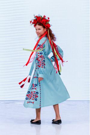 Платье для девочки «Врода» светло-бирюзового цвета