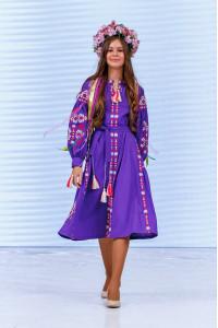 Платье для девочки «Врода» фиолетового цвета