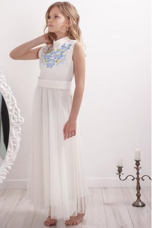 Сукня для дівчинки «Квіткова гармонія» молочного кольору