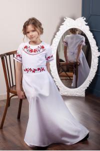 Сукня для дівчинки «Квітковий дует» білого кольору