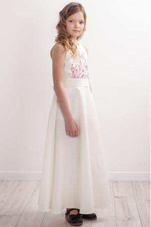 Сукня для дівчинки «Завитки» молочного кольору