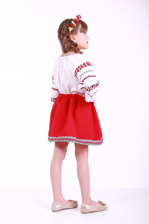 Спідниця для дівчинки «Українка» червона