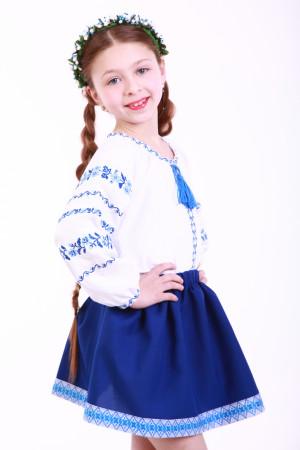 Юбка для девочки «Украинка» синяя