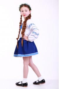 Спідниця для дівчинки «Українка» синя