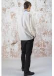 Чоловіча вишиванка «Волошкові мрії» сірого кольору