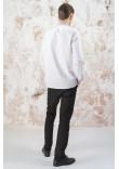 Чоловіча вишиванка «Лілея» білого кольору