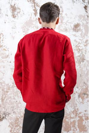 Чоловіча вишиванка «Чарівність» червоного кольору