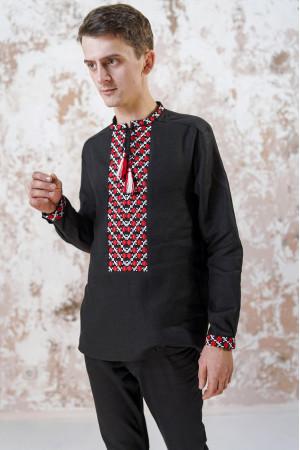 Мужская вышиванка «Очарование» черного цвета