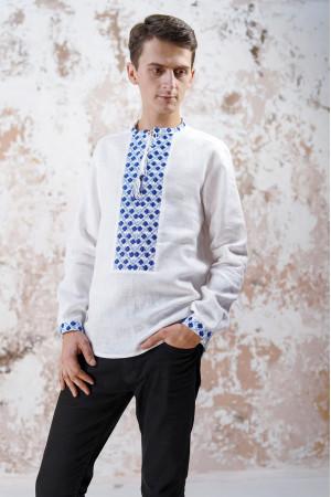 Мужская вышиванка «Очарование» белого цвета