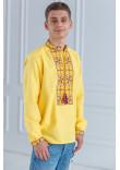Чоловіча вишиванка «Феєрія» жовтого кольору
