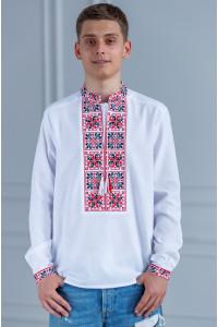 Мужская вышиванка «Феерия» белого цвета
