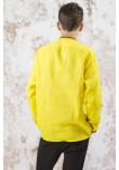 Чоловіча вишиванка «Фортуна» жовтого кольору