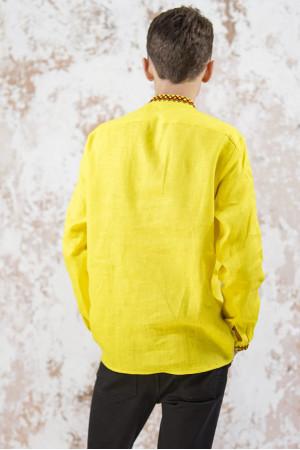 Мужская вышиванка «Фортуна» желтого цвета