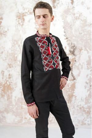 Мужская вышиванка «Фортуна» черного цвета