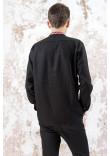 Чоловіча вишиванка «Фортуна» чорного кольору