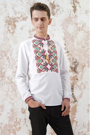 Мужская вышиванка «Фортуна» белого цвета