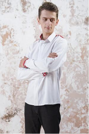 Мужская вышиванка «Роскошь» белого цвета