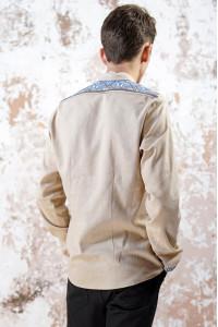 Чоловіча вишиванка «Розкіш» бежевого кольору