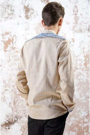 Мужская вышиванка «Роскошь» бежевого цвета