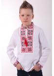 Вишиванка для хлопчика «Феєрія» з червоно-чорним орнаментом