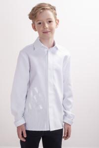 Вышиванка для мальчика «Тюльпановое поле» белого цвета