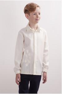 Вишиванка для хлопчика «Тюльпанове поле» молочного кольору