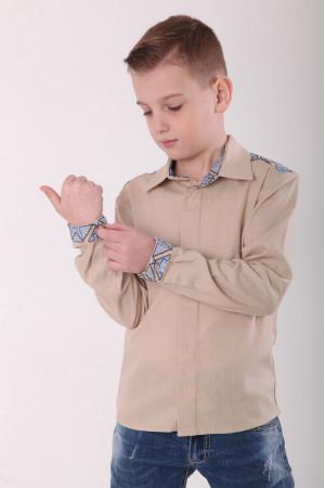 Вышиванка для мальчика «Роскошь» бежевого цвета