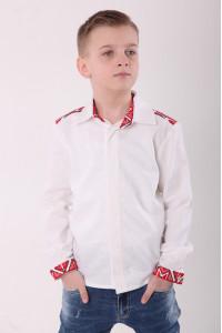 Вишиванка для хлопчика «Розкіш» білого кольору
