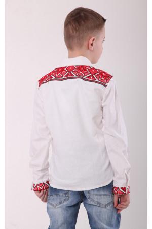 Вышиванка для мальчика «Роскошь» белого цвета