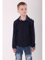 Вышиванка для мальчика «Роскошь» темно-синего цвета