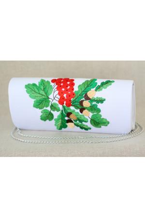 Вишитий клатч «Лісова казка» білого кольору