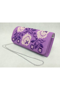 Вишитий клатч «Чарівність» фіолетового кольору