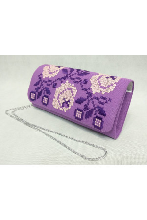 Вышитый клатч «Очарование» фиолетового цвета