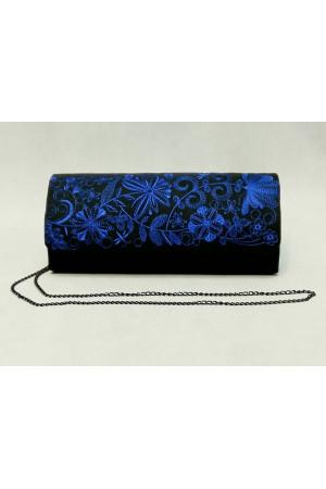 Вышитый клатч «Романтика» синего цвета