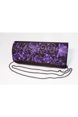 Вишитий клатч «Романтика» фіолетового кольору