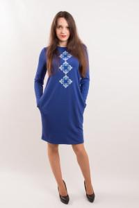 Сукня «Зоряна» синього кольору