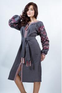 Платье «Оберег» серого цвета