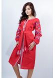 Сукня «Оберіг» червоного кольору