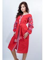 Платье «Оберег» красного цвета