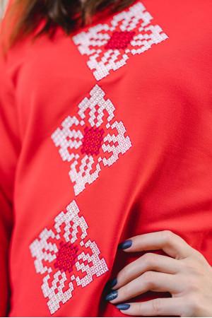 Свитшот «Звездный» красного цвета