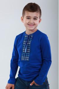 Футболка для хлопчика «Кольорова» синього кольору