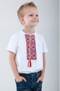 Футболка для мальчика «Лабиринт» белая, КР
