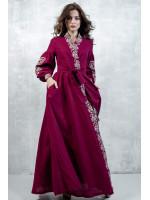 Сукня-халат «Марево ночі» вишневого кольору