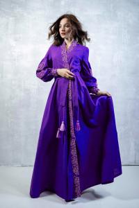 Платье-халат «Марево ночи» фиолетового цвета
