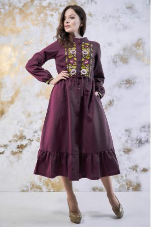 Платье «Шепот цвета» бордового цвета