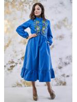 Платье «Шепот цвета» синего цвета