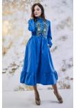Сукня «Шепіт кольору» синього кольору